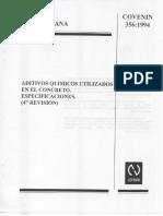 COVENIN 356-94 Aditivos en El Concreto. Especificaciones (1)