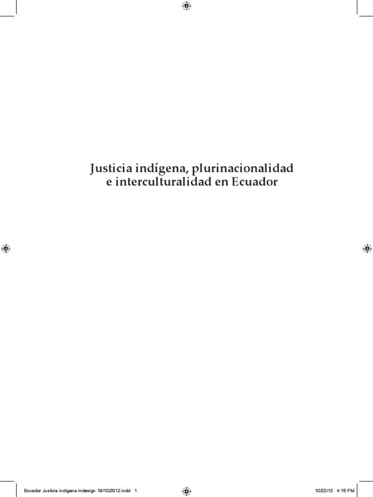 l) De Sousa Santos y Grijalba. Justicia Indigena Plurinacionalidad e ...
