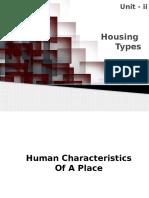 Housing Typologies