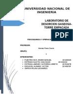 INFORME DESORCION GASEOSA