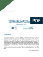 Premios Investigacion Scie Fbbva 2017