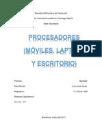Procesadores (Móviles, Laptops y Escritorio)