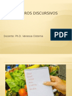 PPT Géneros Discursivos