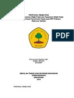 Daftar Isi Pengaruh Kesadaran Wajib Pajak dan Kepatuhan Wajib Pajak Terhadap Kinerja Penerimaan Pajak Pada KPP Selatan Makassar