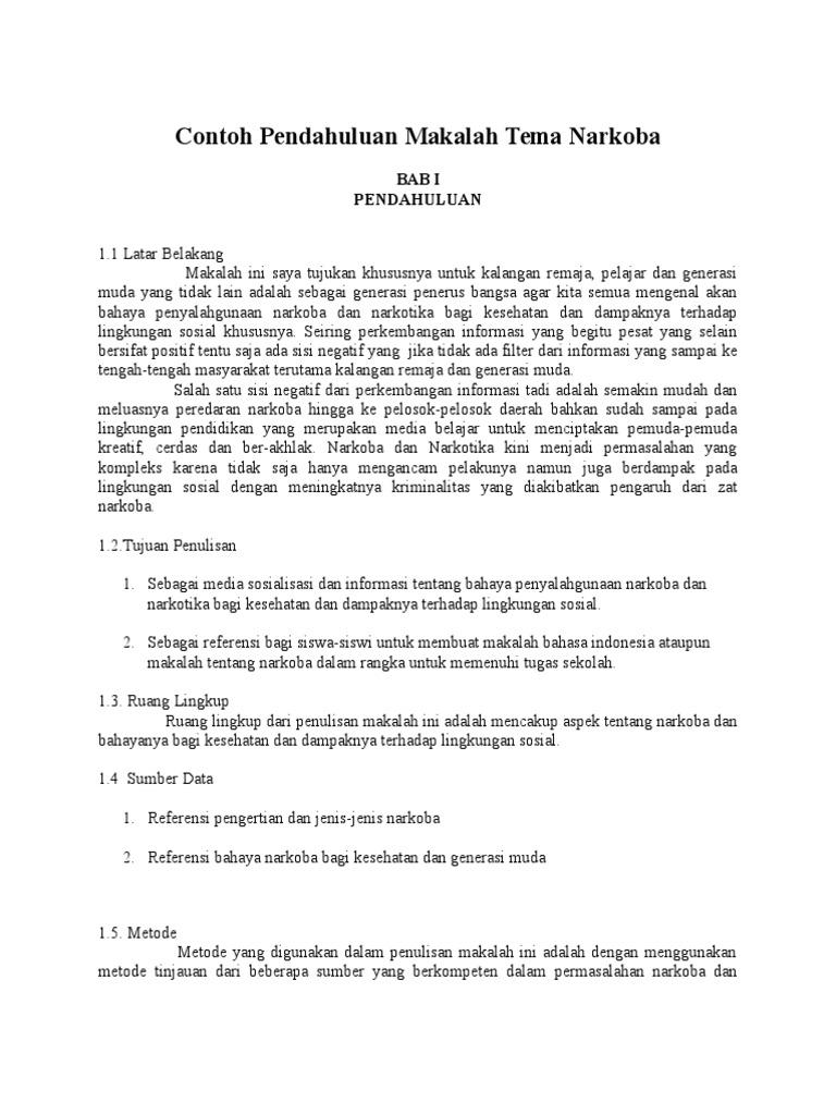 Contoh Pendahuluan Makalah Docx
