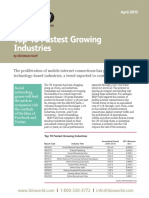 10 Fastest Growing Industries 2013 Final