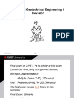 Geotechnical Engineering 1 (RMIT) Course Revision