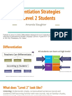 differentiation strategies for level 2 students