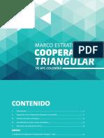 Marco Estrategico de Cooperacion Triangular de Apc-colombia