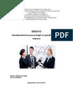 Ensayo Interdependencias Para Proteger La Operatividad de Su Empresa