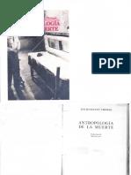 Antropología de La Muerte - Louis-Vincent Thomas