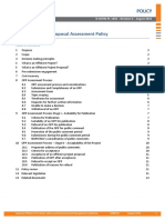 Offshore Project Proposal Assessment Policy