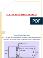 Vortex Tube Steam Jet Refrigeration