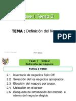 Fase I - Tema 2 - Definición Del Negocio, Informacion Del Sector