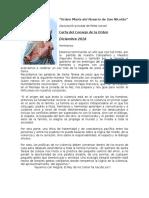 Carta Novena Diciembre 2016 Orden María Del Rosario de San Nicolás.