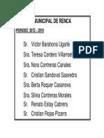 Concejales 2012-2016 Sin