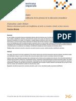 Francisco Miranda (2013) La Evaluación a Debate. Entre la calidad y la desafiliación de los jóvenes de la educación secundaria en América Latina