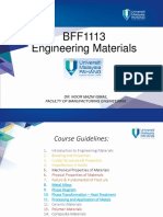 BFF1113 Engineering Materials Topic 6