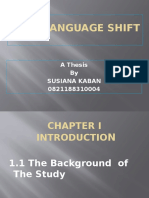 Karo Language Shift