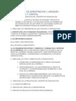 Cuestionario de Admiistracion 1 Unidades Organización y Control