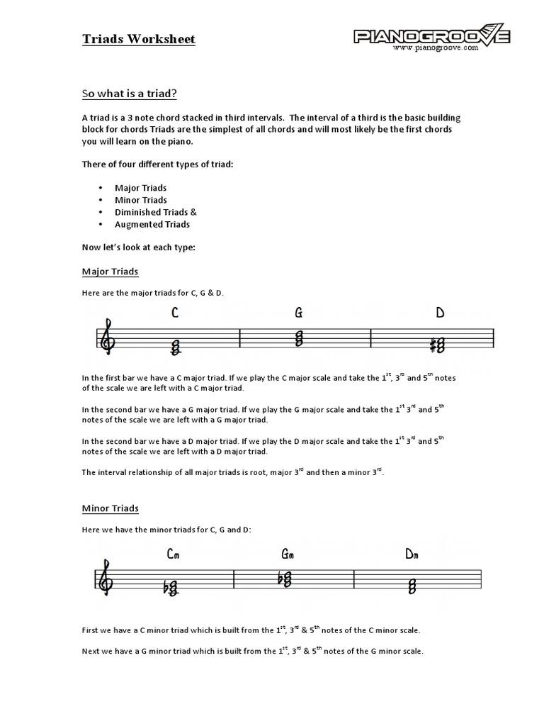 Triad worksheet chord music music theory hexwebz Images