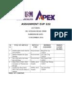 Group Assignment Dr Fatihah