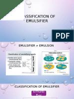 Classification of Emulsifier