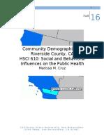 hsci 610 community demographics