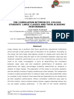 The Correlation Between Efl College Students' Large Classes and Their Academic Performance