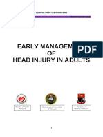 CPG Early Management of Head Injury