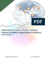 Global Medical Robots Market Forecast 2016-2023