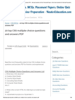 20 Top CSS Multiple Choice Questions and Answers PDF - Interview Questions, MCQs, Placement Papers, Online Quiz Questions for Interview Preparation - NaukriEducation