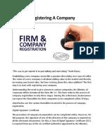 Registering a Company