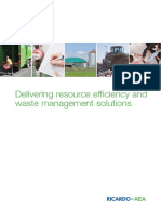 Ricardo-AEA Delivering Resource Efficiency and Waste Management Solutions Feb14
