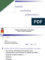 Maladie Orpheline Pulmonaire Alina Boldescu