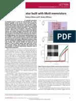 Nature Letter Memristors for Neurons