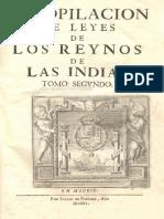 Leyes de Indias, II