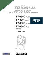 Casio Tv880 Sm
