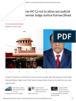 SC Directs Madras HC CJ Not to Allow Any Judicial Work to Controversial Judge Justice Karnan