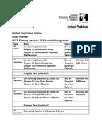 F9 Study Plan Jun 2015