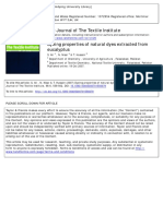 Journal of the Textile Institute Volume 98 Issue 6 2007