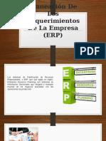 Planeación de Los Requerimientos de La Empresa (