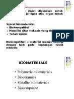 Week 6 - Biomaterials