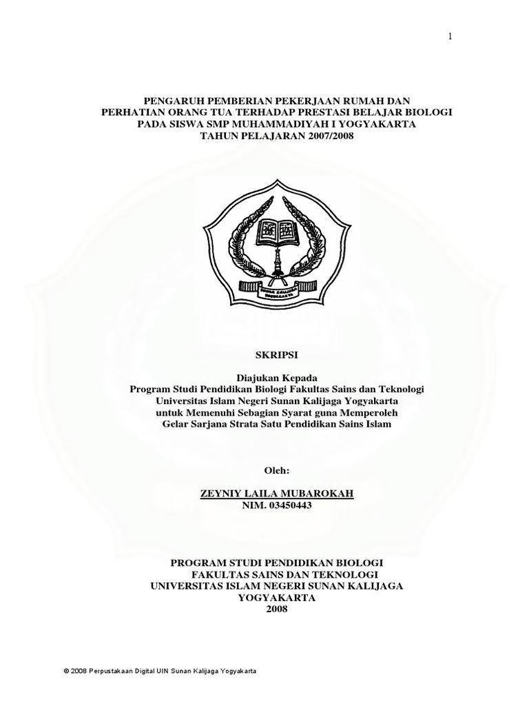 Contoh Skripsi Biologi Pendidikan Pdf