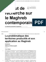 Les Territoires Productifs en Question(s) - La Problématique Des Territoires Productifs Et Son Application Au Maghreb - Institut de Recherche Sur Le Maghreb Contemporain