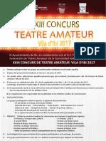 Xxiii Concurs de Teatre Amateur 2017 - Castellano & Valenciano