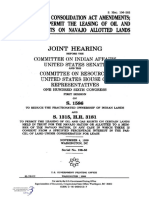 SENATE HEARING, 106TH CONGRESS - INDIAN LAND CONSOLIDATION ACT AMENDMENTS; AND TO PERMIT THE LEASING OF OIL AND GAS RIGHTS ON NAVAJO ALLOTTED LANDS