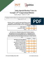 CD 6 Topline Report- zpolitics/Clout
