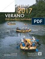 Colonias de verano 2017. Folleto informativo