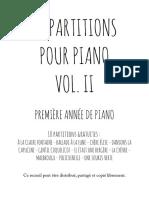 10 Partitions Pour Premiere Annee de Piano Vol2
